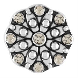 Black and white crystal firework ginger snap
