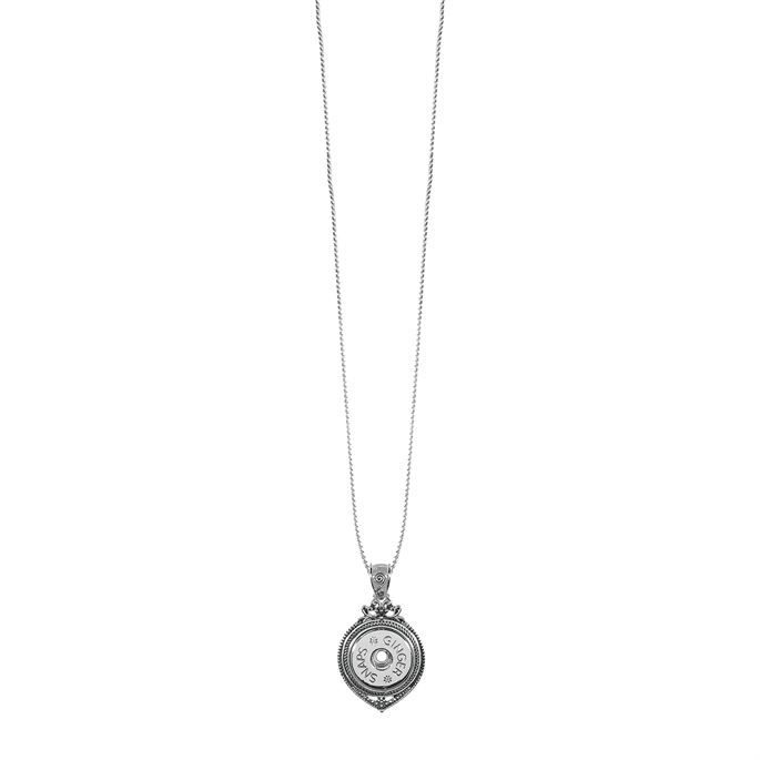 Scroll Dew Drop Ginger Snaps pendant with convertible chain