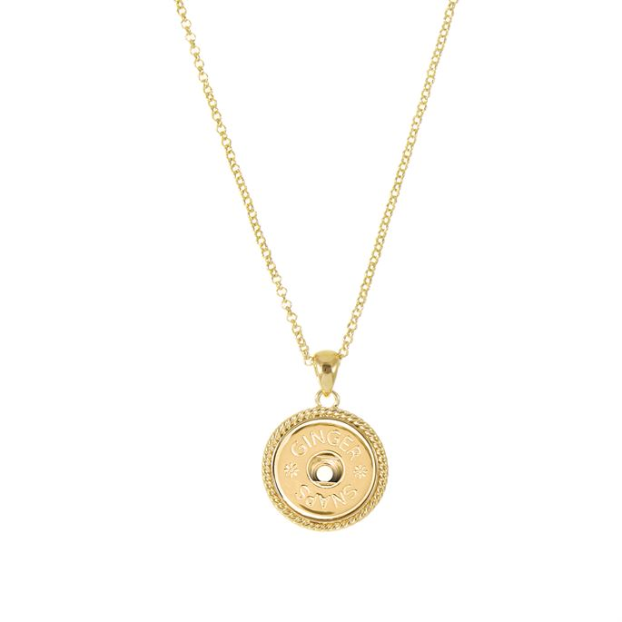 Rope design Ginger Snaps pendant in gold tone