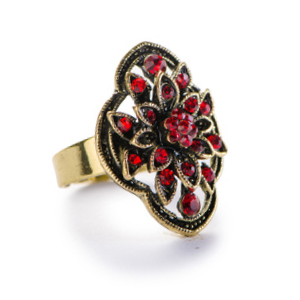 Gold vintage ring with rubies to be repaired