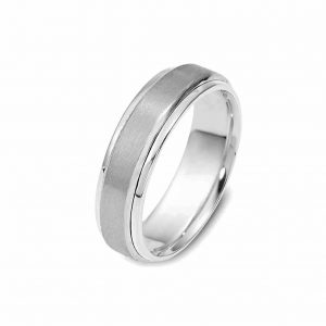 all white rhodium plated band