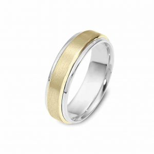 two tone reversed gold band